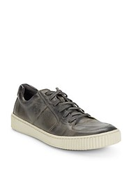 John Varvatos Bedford Lace Up Sneakers Coal