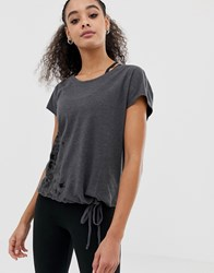 Only Play Leopard Print Yoga Top Grey