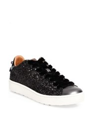 Coach Glitter Leather Sneakers Black