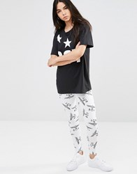 Boy London Logo Leggings White