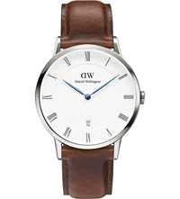 Daniel Wellington 1120Dw Dapper St Mawes Silver And Leather Watch White