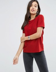 Glamorous Boxy Top Red
