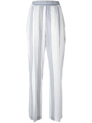 Stella Mccartney Pinstriped Palazzo Pants White