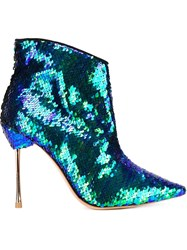 Sophia Webster 'Coco' Sequin Boots Blue