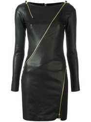 Jitrois Zip Detail Bodycon Dress Black