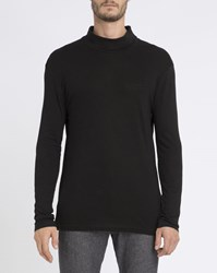 Eleven Paris Black Polo Neck Long Sleeve T Shirt