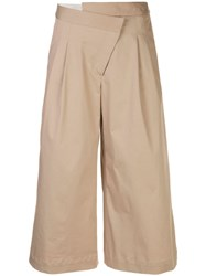 Monse Cropped Wide Leg Trousers Brown