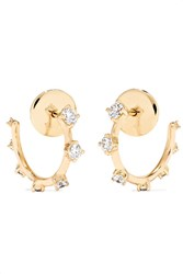 Fernando Jorge Sequence 18 Karat Gold Diamond Hoop Earrings One Size