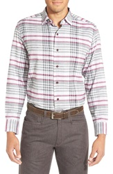Tommy Bahama 'Heather Harbor' Plaid Sport Shirt Cape Cod Red