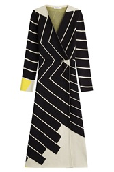 Jil Sander Printed Dress With Fleece Wool Multicolor