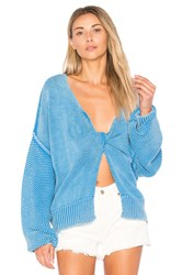 Wildfox Couture Solid Sweater Blue
