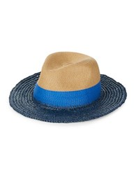 Echo Panama Colorblock Hat Navy Blue Natural