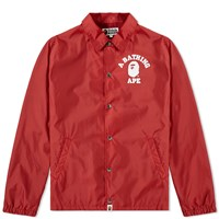 A Bathing Ape College Coach Jacket Red