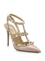 Valentino Patent Leather Rockstud Slingback Pumps Ivory Red Blush Purple Pink Black