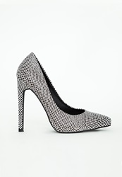 Missguided Pointed Toe Court Shoes Reptile Print Black