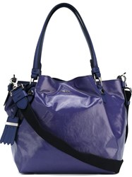Tod's 'Flower' Tote Blue