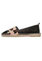 Zign Espadrilles Black Dark Brown