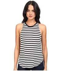 Splendid Stripe Tees Sleeveless Top Black White Women's Sleeveless