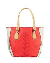 Oryany Lyssie Colorblock Whipstitched Tote Bag Berrymulti