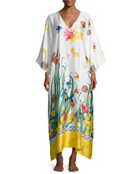 Natori Under The Sea Lounge Caftan Multi Pattern