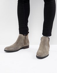 Call It Spring Ocade Suede Zip Boots In Taupe Grey