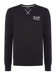 Emporio Armani Men's Ea7 Train Core Id Crew Neck Cotton Jumper Black