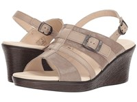 Sas Layla Fog Taupe Wedge Shoes Tan