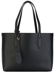 Burberry 'Lavenby' Small Reversible Shopper Women Calf Leather One Size Black