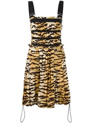 Dolce And Gabbana Vintage Leopard Print Dress Brown