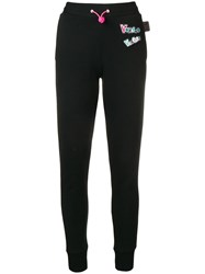 Versus Logo Patch Track Trousers Black