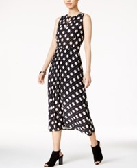 Maison Jules Printed Midi Dress Only At Macy's Black Combo