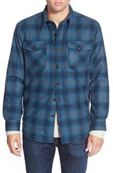 Men's Pendleton Quilt Lined Wool Plaid Shirt Jacket