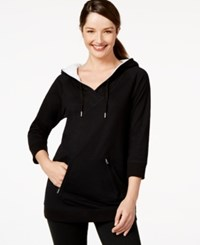 Styleandco. Style And Co. Sport Three Quarter Sleeve Hooded Sweatshirt Only At Macy's