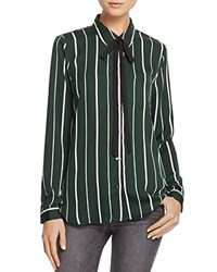 L'academie The Classic Stripe Shirt Green Stripe