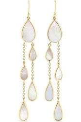 Ippolita Polished Rock Candy 18 Karat Gold Mother Of Pearl Earrings One Size