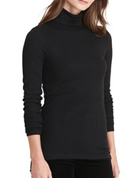 Lauren Ralph Lauren Petite Ribbed Jersey Turtleneck Black