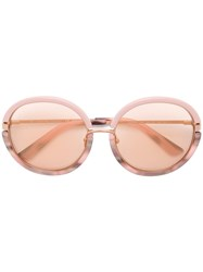 Calvin Klein 205W39nyc Rose Tinted Sunglasses Pink And Purple