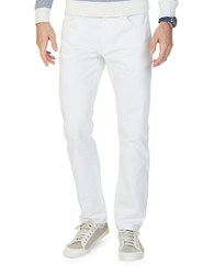 Nautica Straight Fit Cotton Pants Frost White