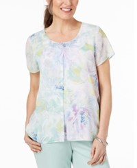 Alfred Dunner Daydreamer Embellished Top Multi