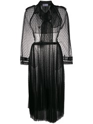 Red Valentino Long Point D'esprit Tulle Coat 60