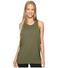 Lucy Keep Calm Tank Top Rich Olive Women's Sleeveless Metallic