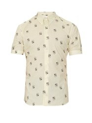 Alexander Mcqueen Micro Dot And Skull Print Cotton Shirt