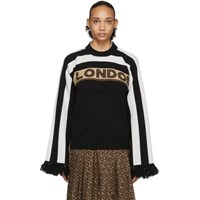 Burberry Brown And Black Cashmere Capelet Sweater