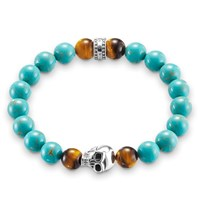Thomas Sabo Rebel At Heart Stretch Turquoise Bracelet Turquoise