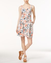 Maison Jules Sweetheart Neck Printed Fit And Flare Dress Only At Macy's