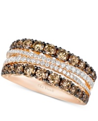 Le Vian Chocolatier Chocolate And White Diamond Ring 1 3 8 Ct. T.W. In 14K Rose Gold No Color