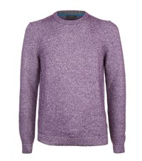 Ted Baker Debut Chunky Knit Jumper Male Purple