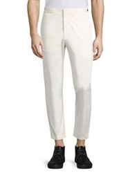 Theory Borough Woolen Trousers Parchment