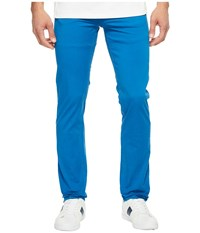 Lacoste Cotton Twill Stretch Five Pocket Slim Fit Trousers Sapphire Blue Dyed Men's Casual Pants