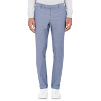 Incotex Chambray Trousers Blue